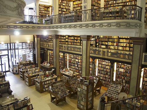 Uruguay, Montevideo:   Inside a bookstore.